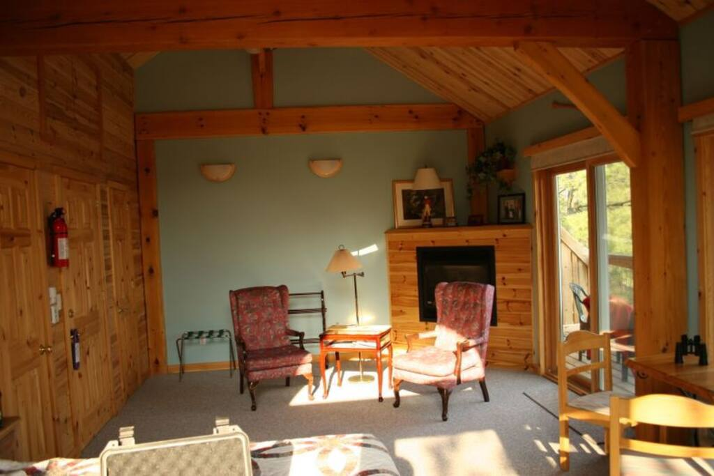 Riverview Suite at the Sunny Rock Bed and Breakfast Haliburton Highlands Ontario