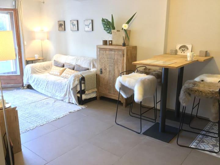 124*Verbier Chaleureux appartement entièrement rénové!