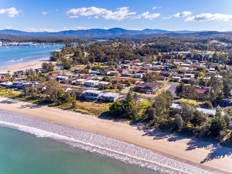Aerial Shot Of The Beach House
