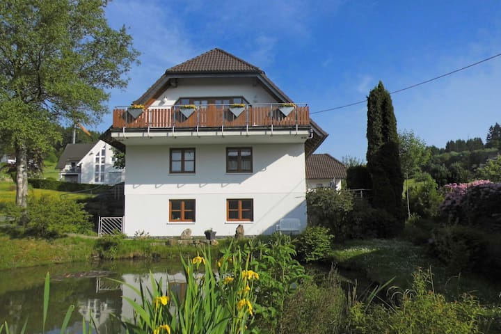 Beautiful holiday home in the Sauerland with balcony and wood oven