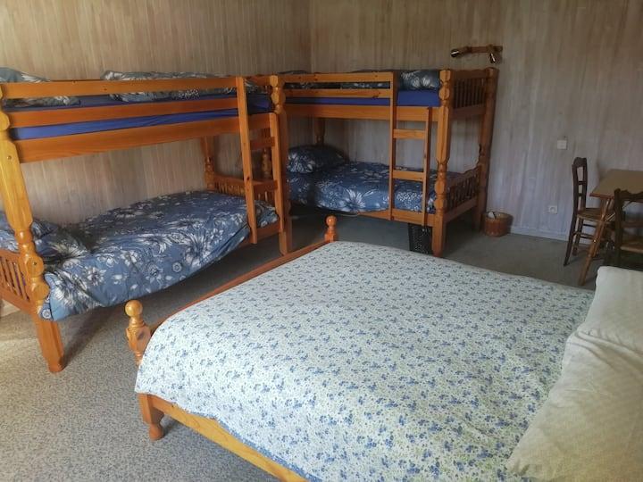 Chambre,cuisine,sdb privée