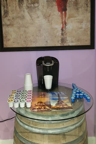 Coffee & tea are complimentary to guests