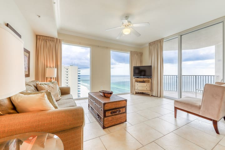 Gulf-front condo near Pier Park w/ on-site pools, hot tubs & fitness center!