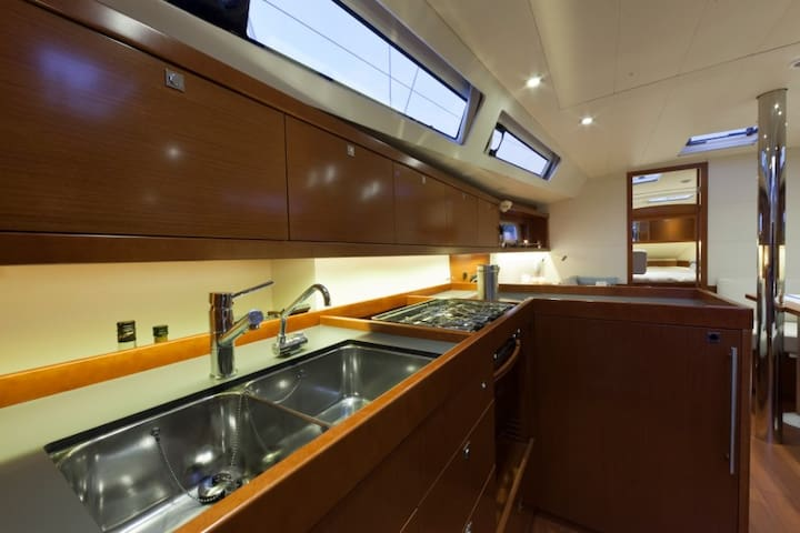 Kitchen of the boat