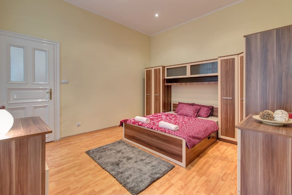 Spacious bedroom with plenty of storage room