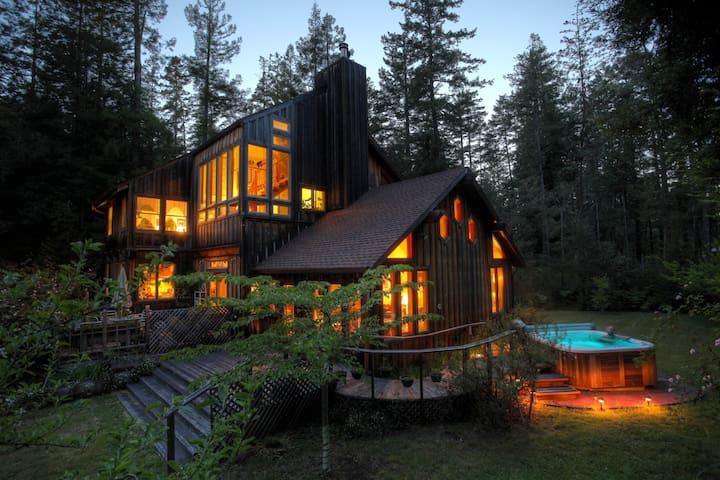 Mendocino Redwood Retreat / Hot Tub - Mendocino - Dom