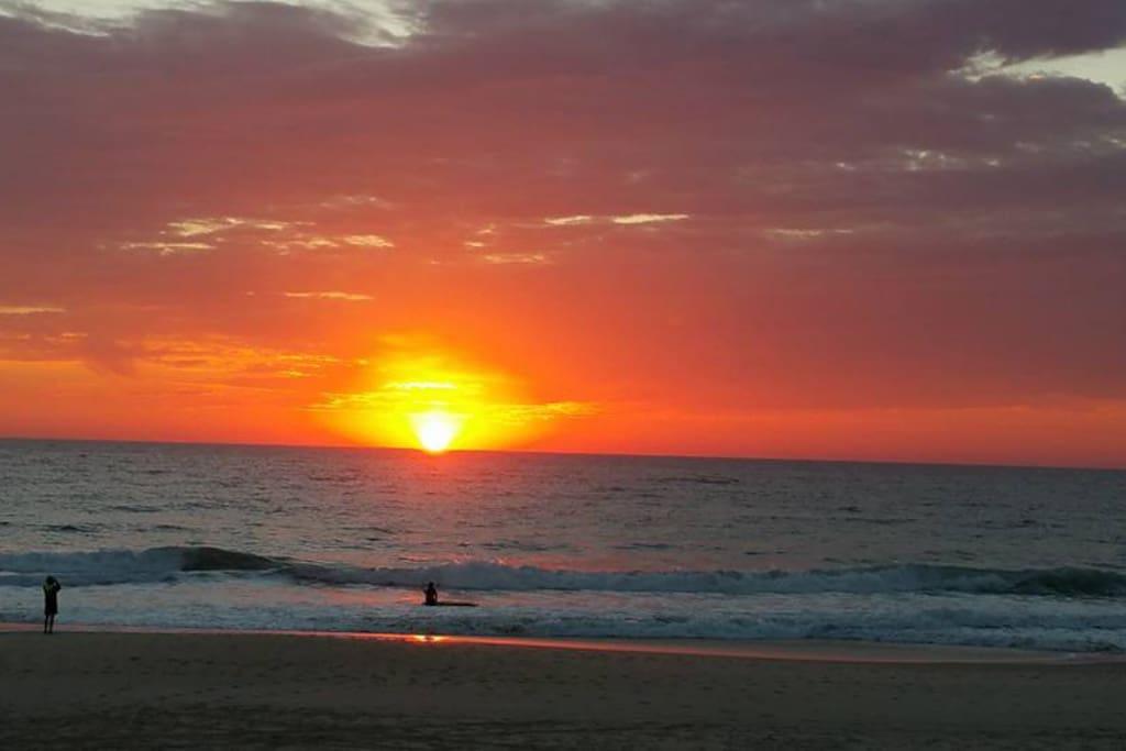 Morning Sunrise at Burleigh Heads Beach