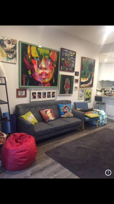 Artwork in lounge