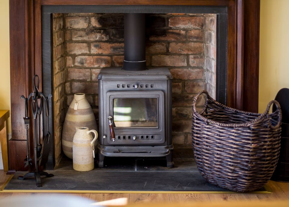 This cosy stove gives it a warm homely feel.
