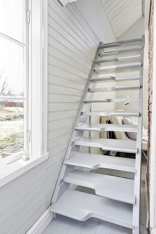 The stairs to the loft.