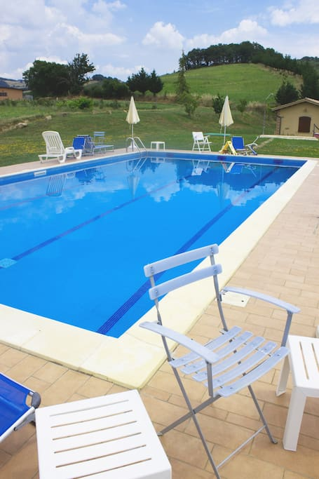 Swimming pool on the hills