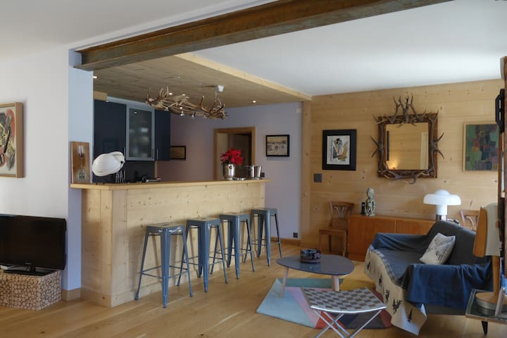 Beautiful central apartment with views - Champéry - Apartmen