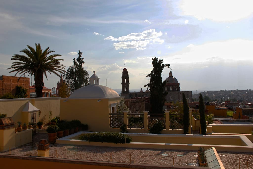 Our lovely view to La Parroquia