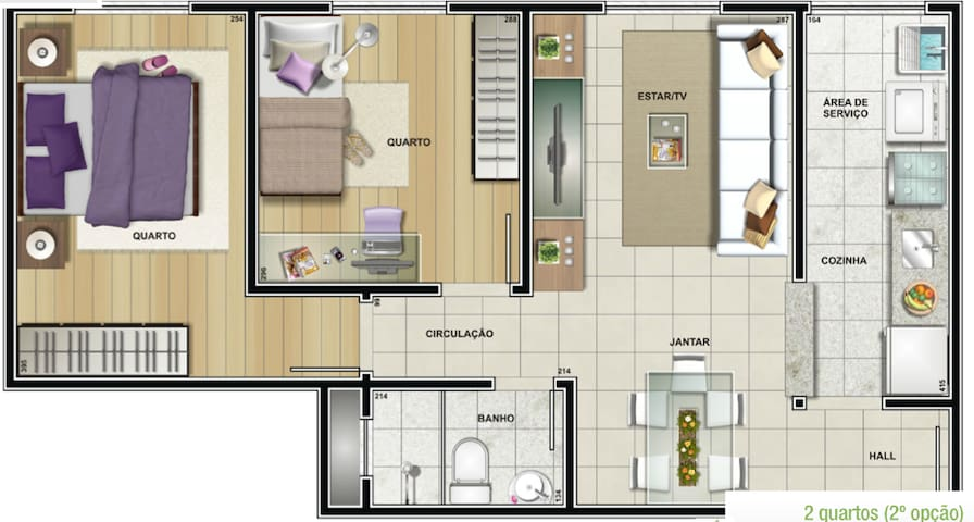 2 Bedroom apartment - Newly Built - Várzea Grande - Apartment