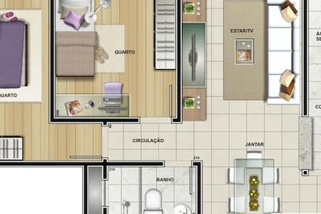 Apartamento de 02 quartos. - Várzea Grande