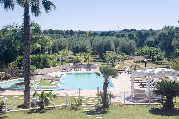 Tenuta Placella in olive grove and private Pool