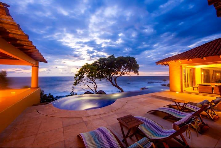 Ocean Front Villa in Marina Chacala - Chacala