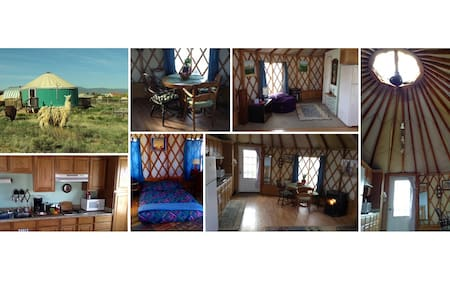 Enchanted yurt with amazing views and llamas too - Santa Fe - Yourte