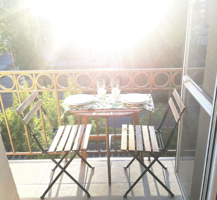 Balcony for two or three person