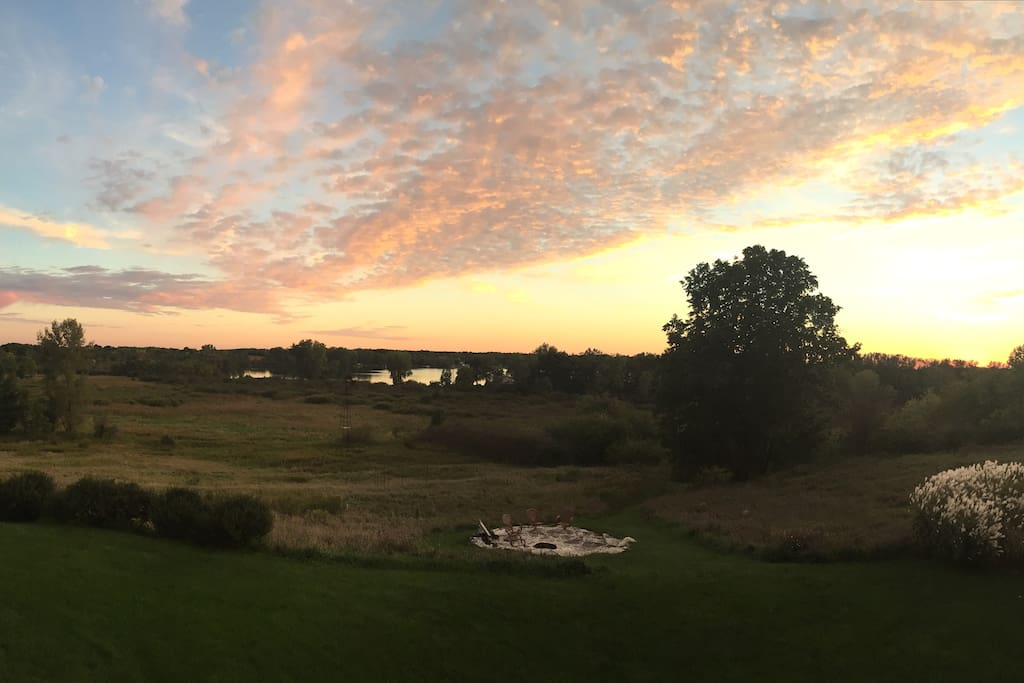 Unmatched Wisconsin sunsets nearly every night!