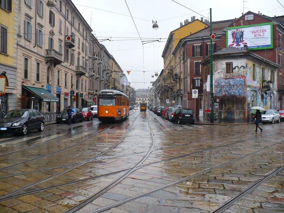rainy day in via Vigevano