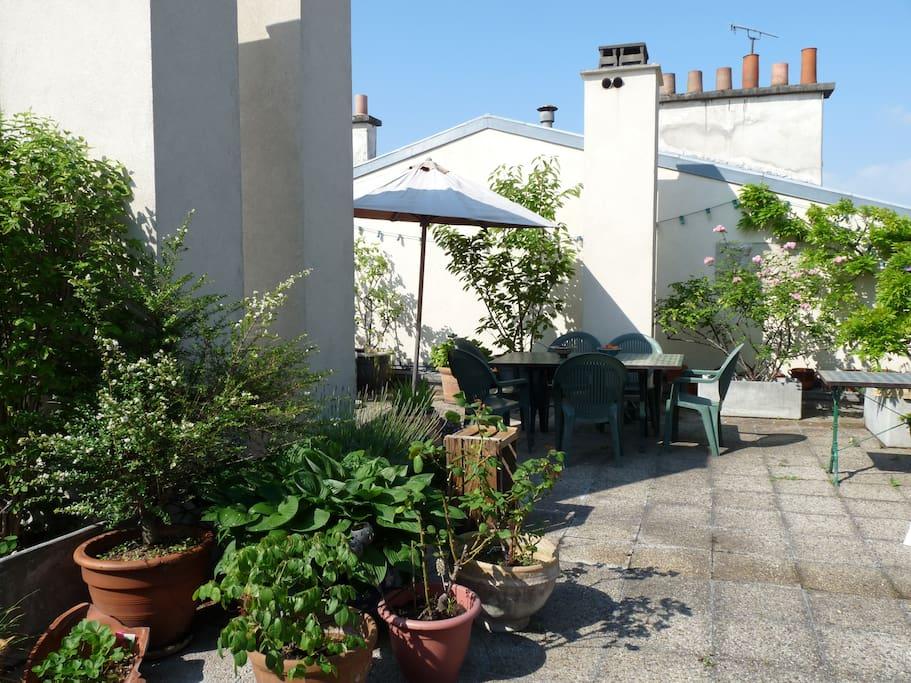 Rare un jardin sur le toit appartements louer for Jardin a louer ile de france
