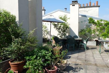 A rooftop garden in center Paris - Paris - Bed & Breakfast