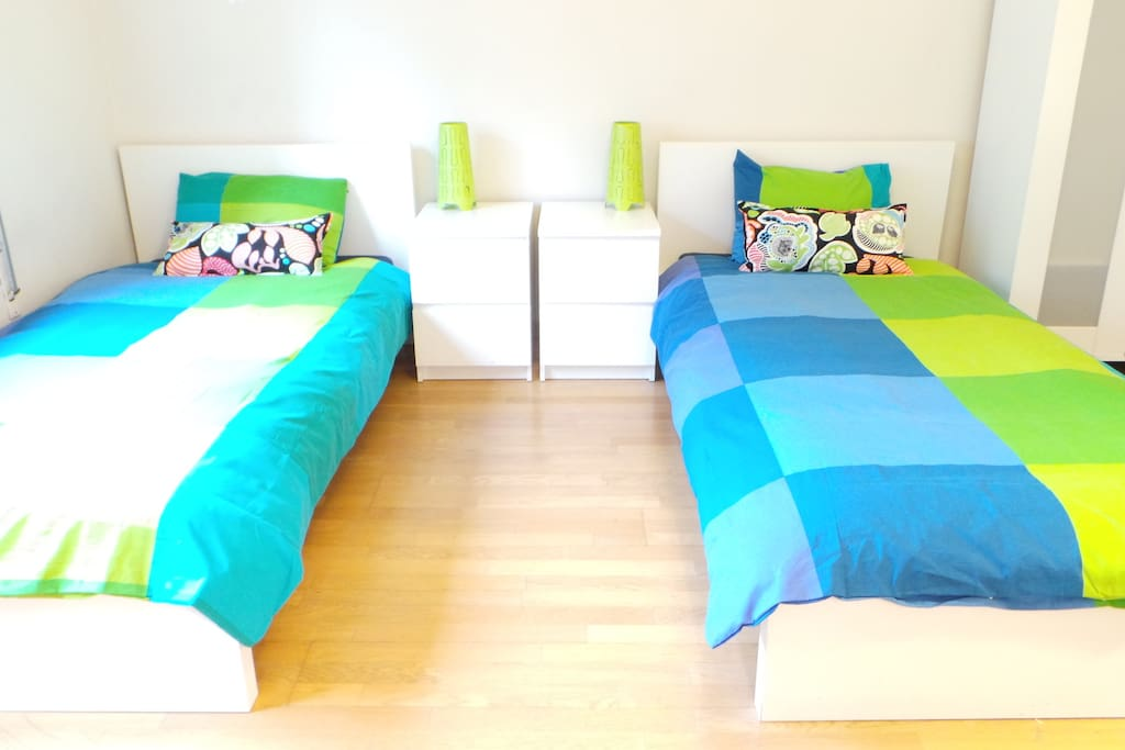 Comfortable single beds to relax at night!