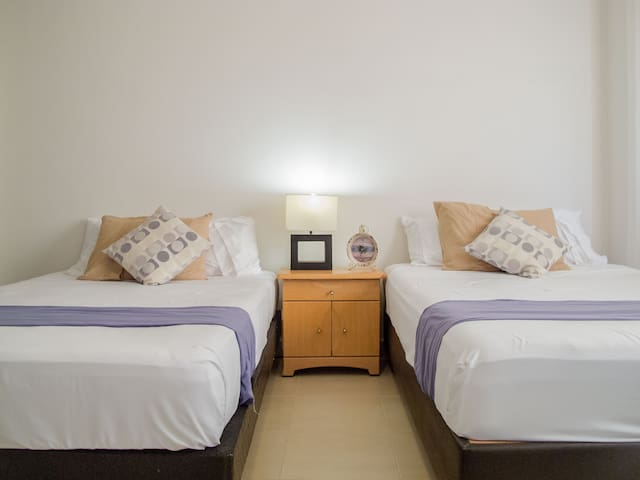Nice private room w/bathroom - Cancún - Apartment