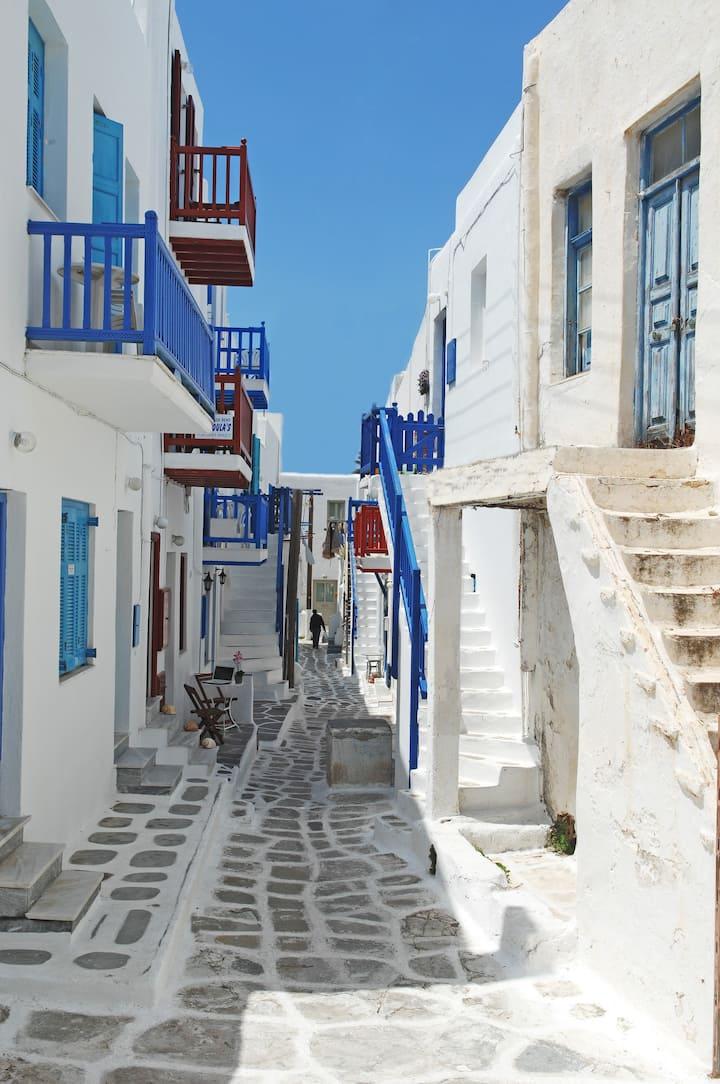 Mykonos, city center, 2 bedrooms & 2 bathrooms