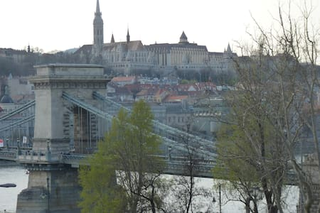 Panorama at the Chain Bridge - Budapest