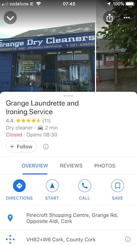 Local Launderette: they will do laundry and Ironing, usually on same day.