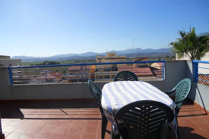 House with 2 bedrooms in Chilches, with wonderful mountain view, enclosed garden and WiFi