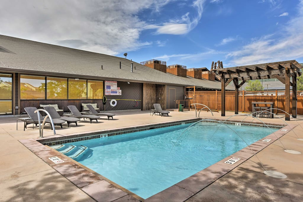 The newly renovated condo features a brand new pool and a year-round hot tub!