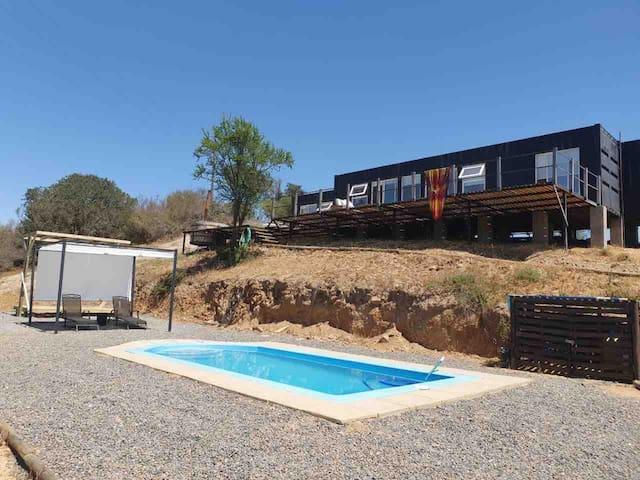 Casa Container en Lago Rapel, Estero Pulin