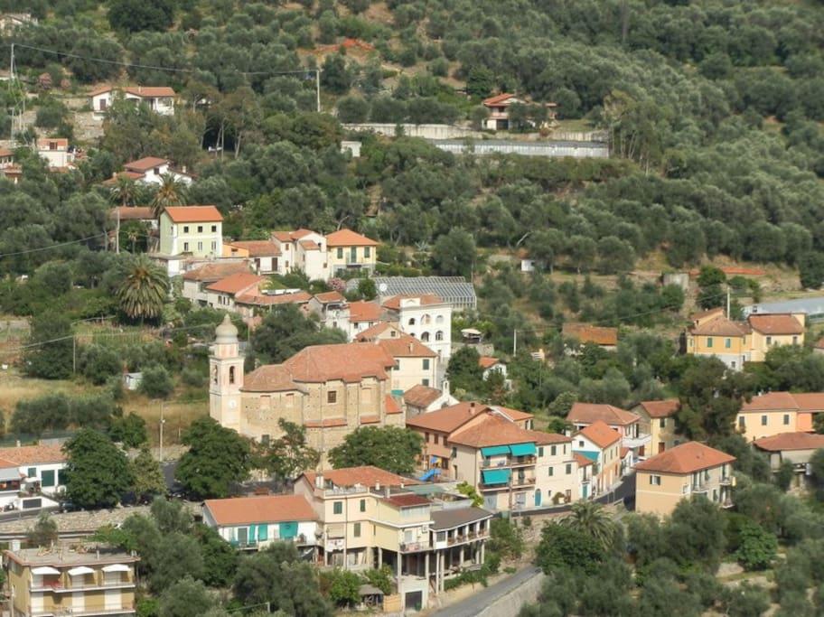Centro paese di Diano Borganzo
