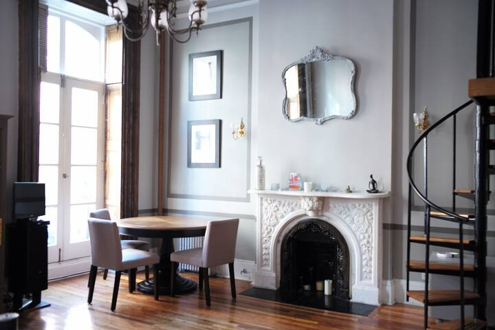 Charming Lofty 1bd on Quiet Street - New York - Apartmen