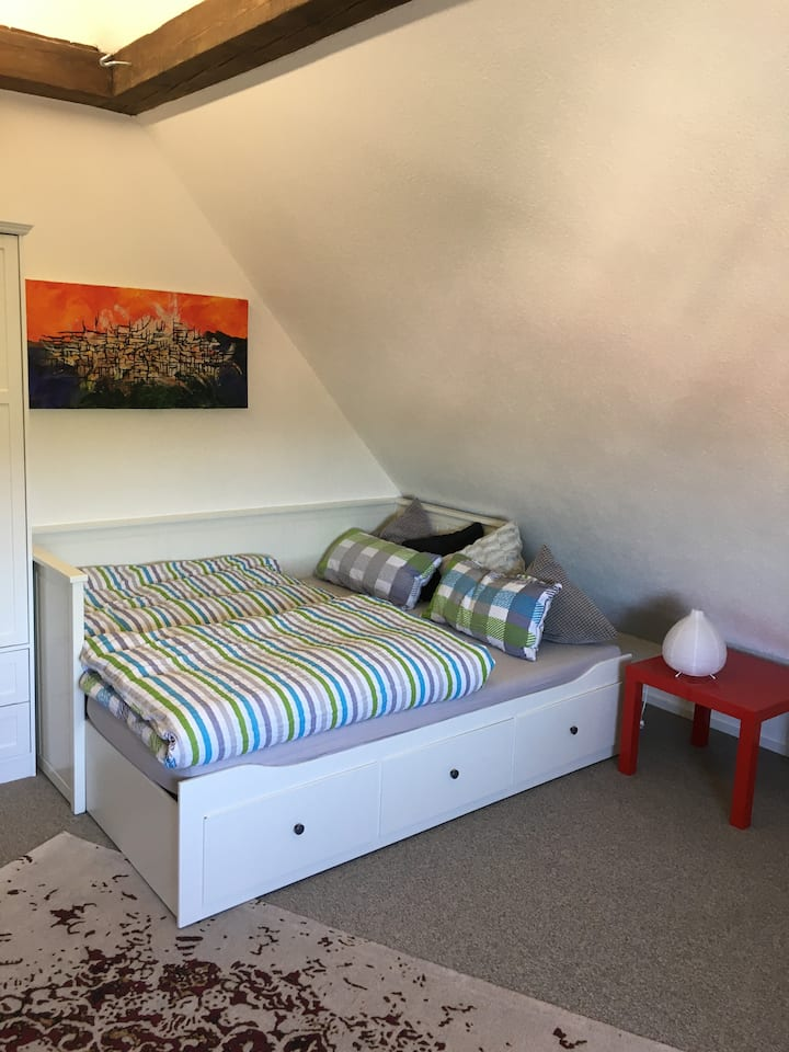 Zimmer in Esslingen, zentral, Blick über die Stadt