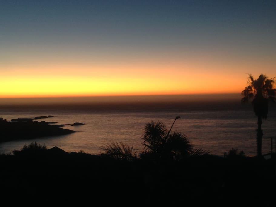 Llandundo sunsets from the patio