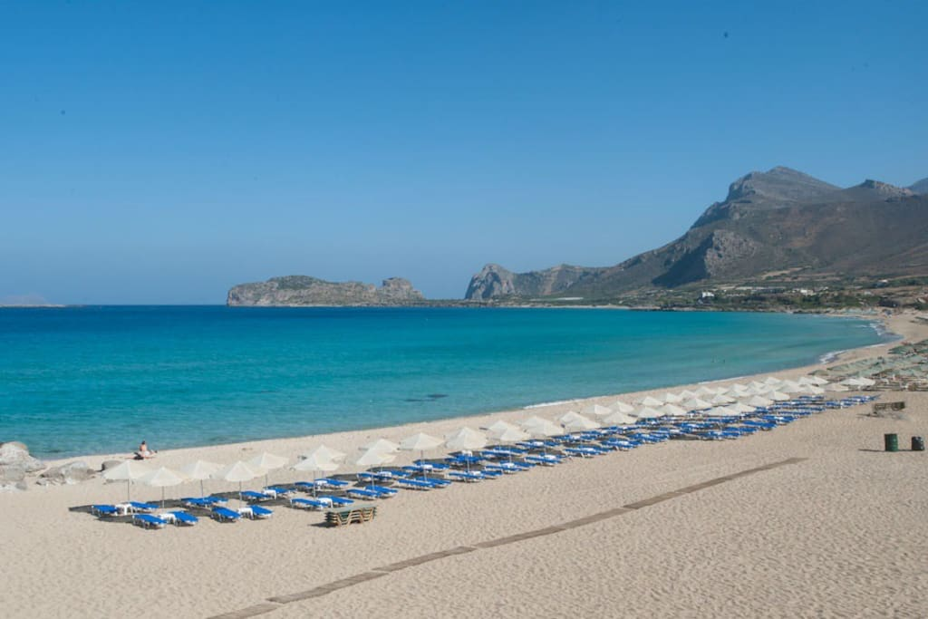 Falasarna beach is the ideal sandy beach for those you wish to stay away from crowded beaches.