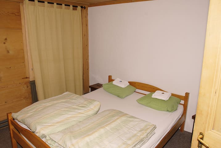 One of the five cosy bedrooms