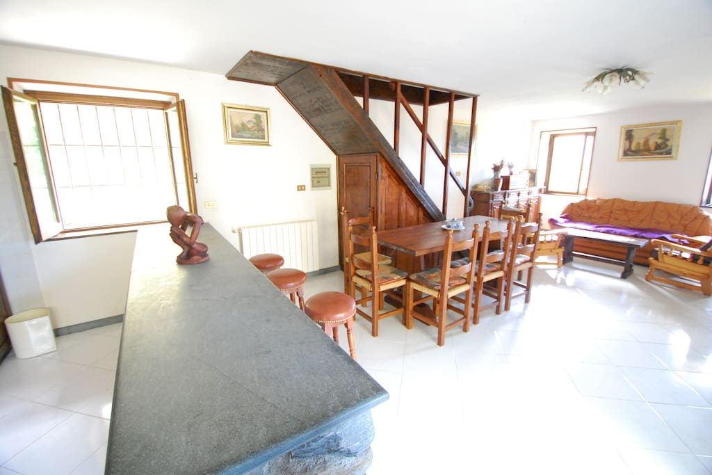 Ground floor living/dining area - large dining table