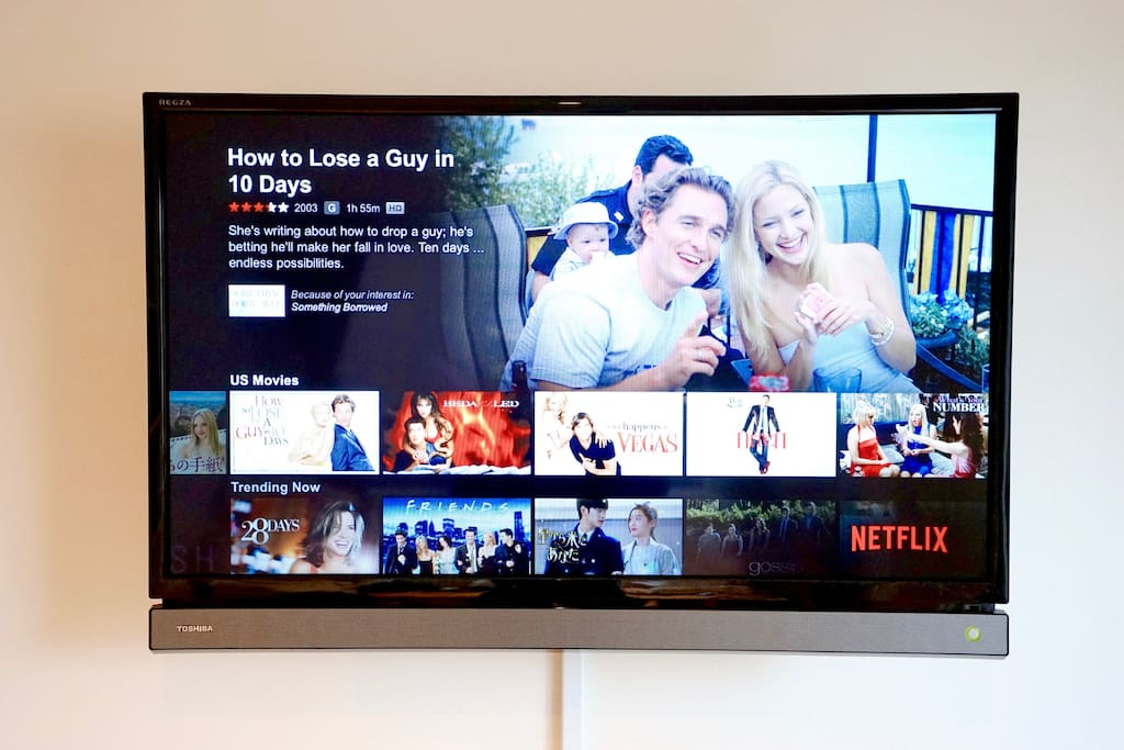 We offer free Netflix for you to enjoy when you want to relax indoors.
