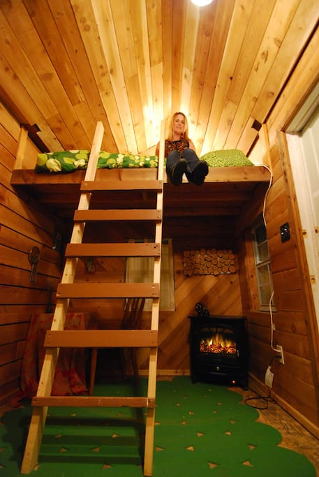 single loft bed sleeps one comfortably