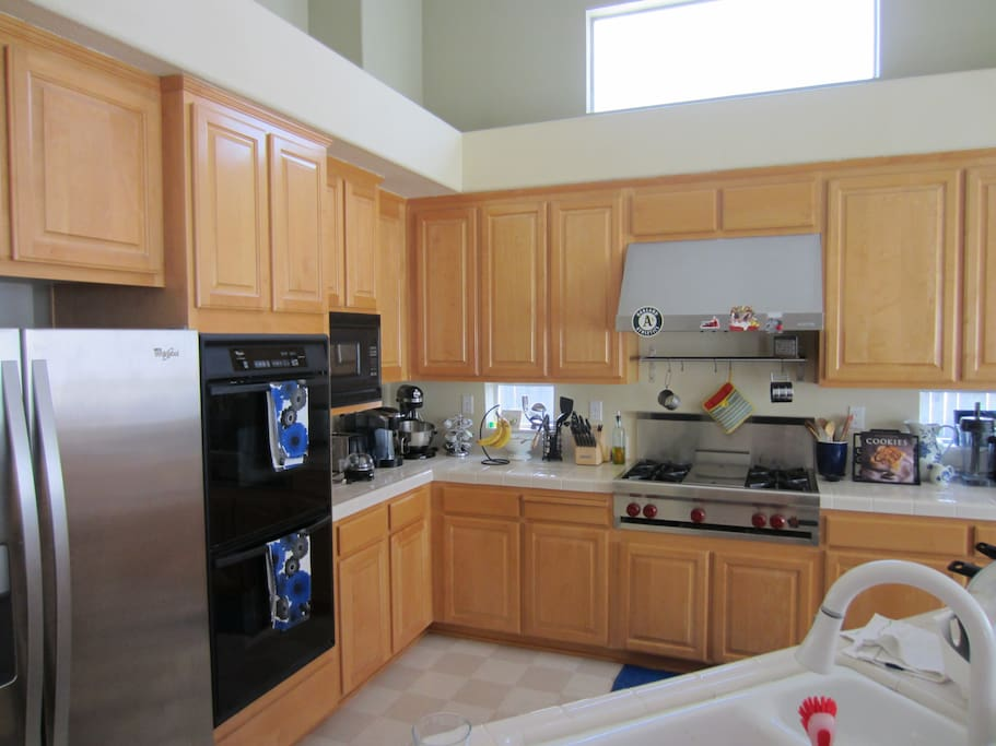 Kitchen--double oven, gas stove etc...