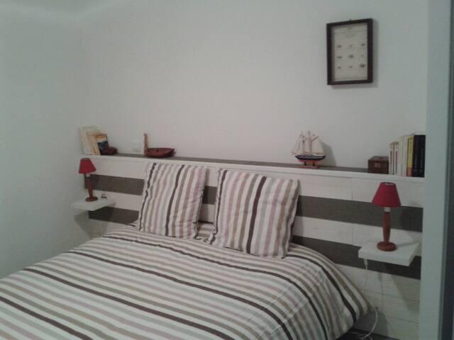 Chambre élégante. (literie Bultex- 160)