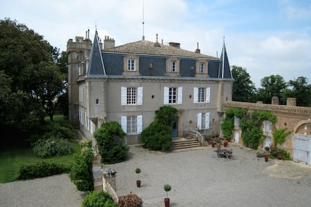 Chambre au château, avec terrasse - Cabanac-Séguenville - Oda + Kahvaltı