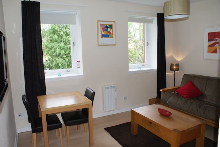 Cozy flat with lift/parking - Glasgow - Leilighet