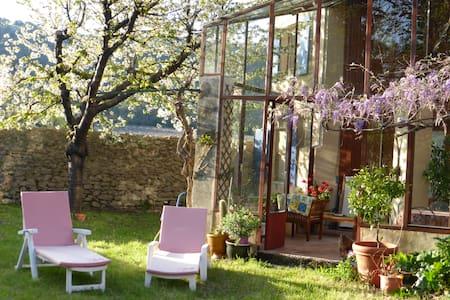 Charmante maison ancienne avec jardin ombragé - Fontanes
