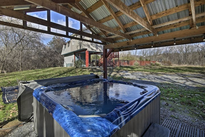 NEW! Rustic Luray Home on River w/ Pool & Hot Tub!